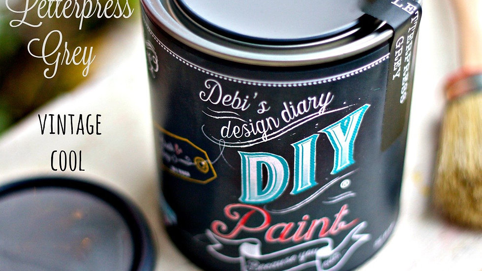 Debi's DIY Paint - 8oz - Letterpress Grey