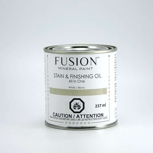 Fusion Stain and Finishing Oil - White - 237ml