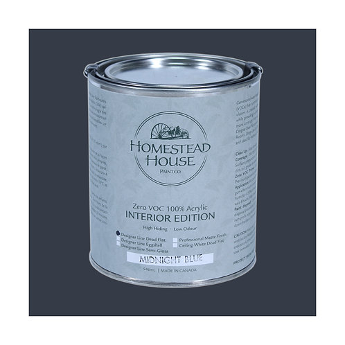Homestead House Furniture Paint - Dead Flat - Midnight Blue - 946ml