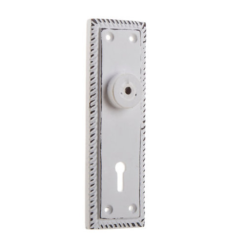 Notched Backplate - White -  D22682