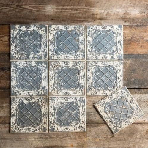 Antique White Tin Ceiling Tile - HX4776