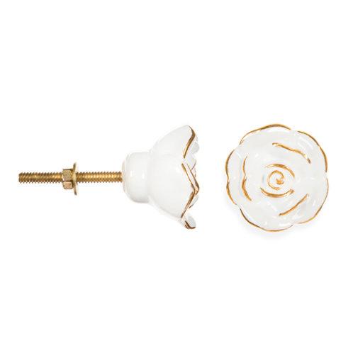 Gold Petal Flower Knob - D4406