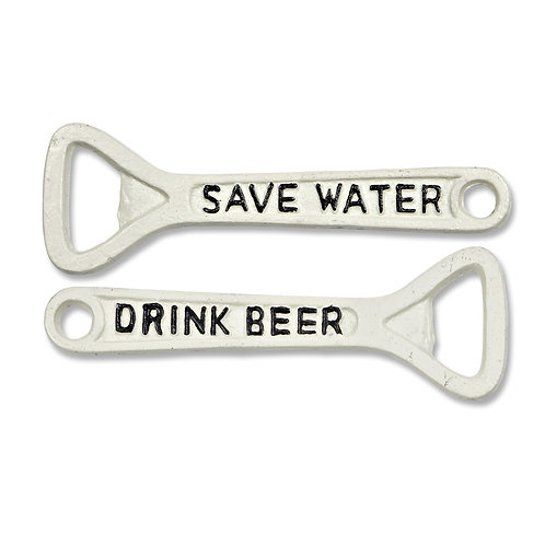 Save Water Cast Iron Bottle Opener - F45WHT