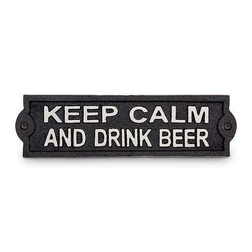 Keep Calm Cast Iron Sign - I241BLK