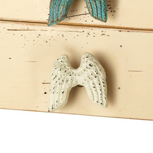 White Angel Wing Knob - 131370WHT