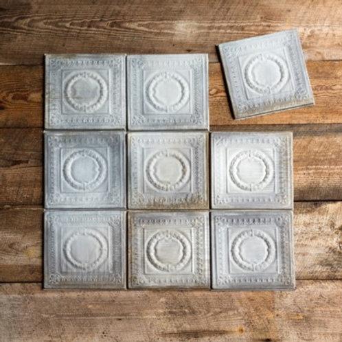 Antique Gray Tin Ceiling Tile - HX4772