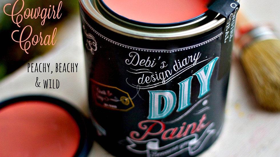 Debi's DIY Paint - 8oz - Cowgirl Coral