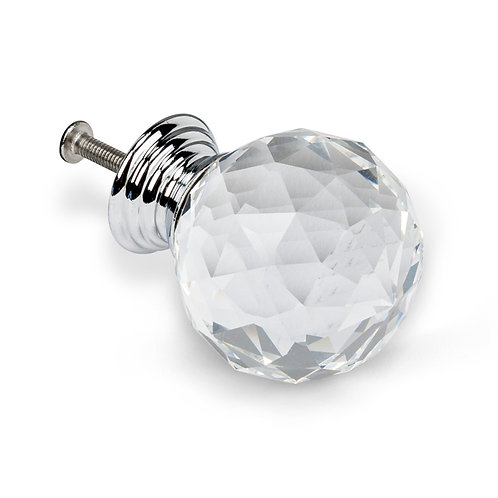 Large Crystal Ball Knob - H93CLEAR