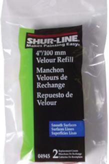 Velour Mini Roller refills - 4 inch