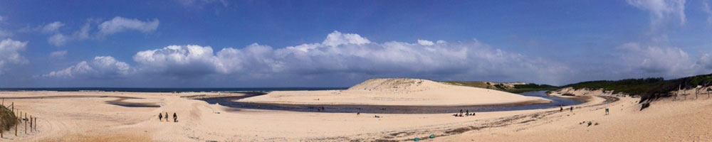 L'Océan des Landes - Courant d'Huchet à Moliets