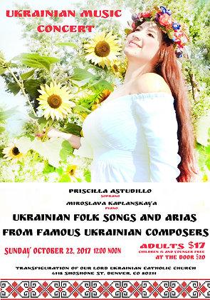 Ukrainian Music Concert: Ukrainian Folk Songs and Arias
