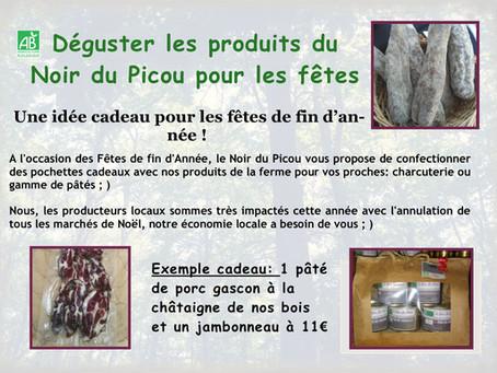 Dégusterles produits du Noir du Picou pour les fêtes