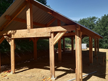 Construction du bâtiment de stockage