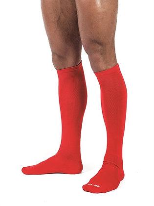 Chaussettes hautes Foot Socks Rouge