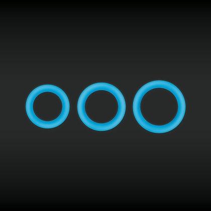 Cockring Fluo Firefly Bleu - Diamètre 30 mm