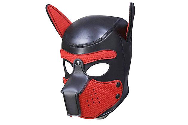 Cagoule Dog en néoprène rouge