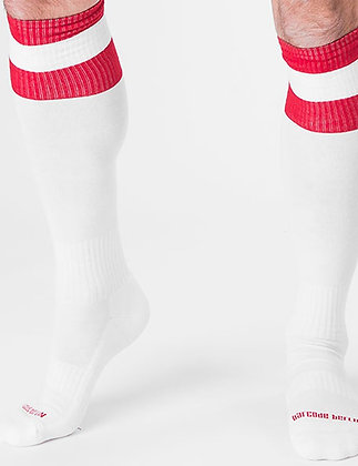 Chaussettes de Football BARCODE Blanc/Rouge