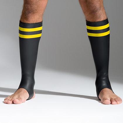 Chaussettes en néoprène, bandes jaunes