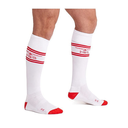 Chaussettes Football MrB Blanc rouge