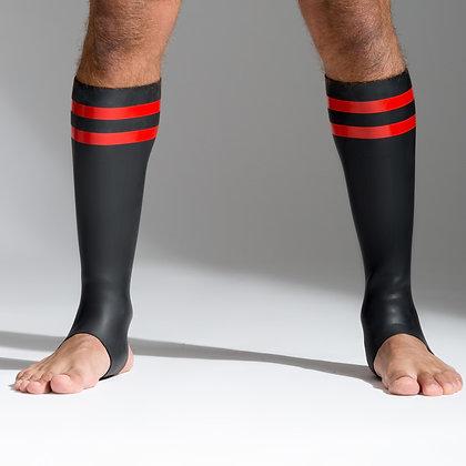 Chaussettes en néoprène, bandes rouges