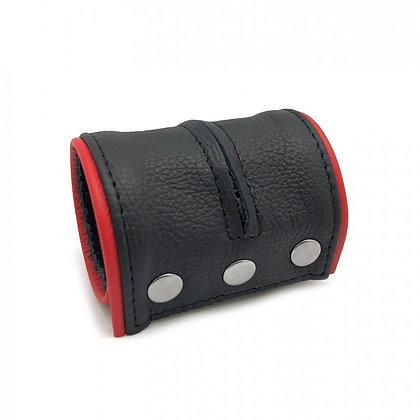 Bracelet de force - porte monnaie noir/rouge
