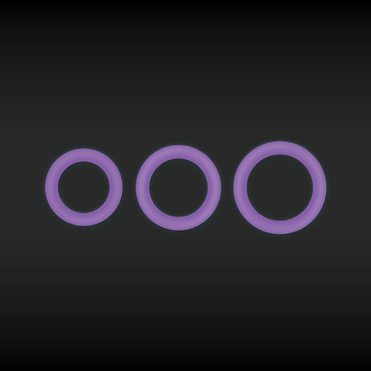 Cockring Fluo Firefly Violet - Diamètre 30 mm