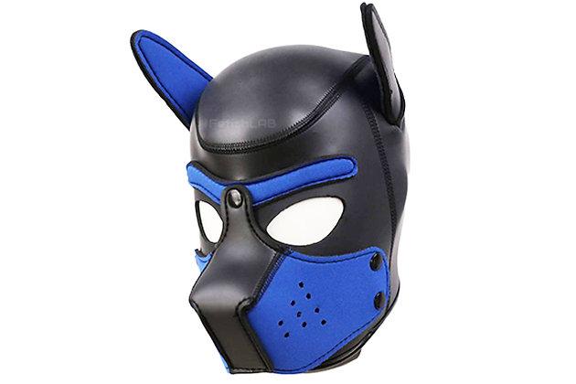 Cagoule Dog en néoprène bleu