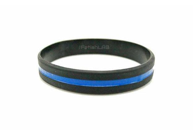 Bracelet silicone noir et bleu