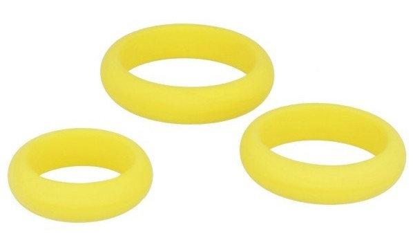 Cockrings en silicone jaune x3