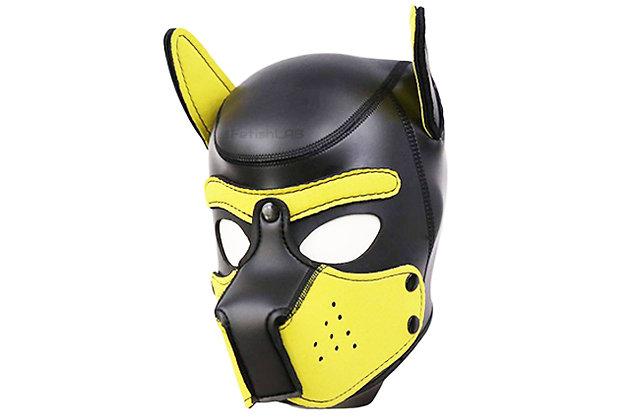 Cagoule Dog en néoprène jaune