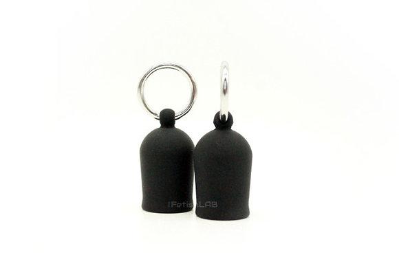 Suce-tétons en silicone avec anneau