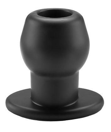 Ass Tunnel Plug Silicone Noir Extra-Large 9 x 7 cm