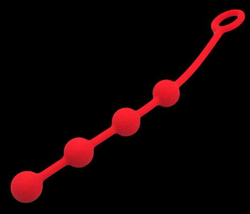 Boules anales Quatuor Rouge 2cm