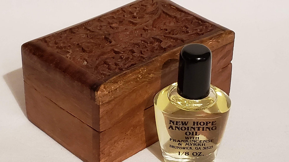 New Hope Mary Magdalene Precious Box with Frankincense and Myrrh Oil