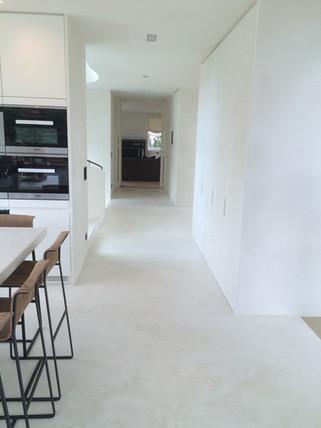 Neststeen Vloer / Keuken Tablet Kalkpleister, mortex, tadelakt, beton cire.