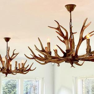 Deer antler chandeliers