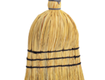 Straw Hand Brush with Wooden Handle