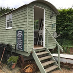 Shepherd's Hut. Small and private event space for hire in Farnham, Surrey. The Packhouse
