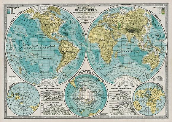 Hemispheres Poster