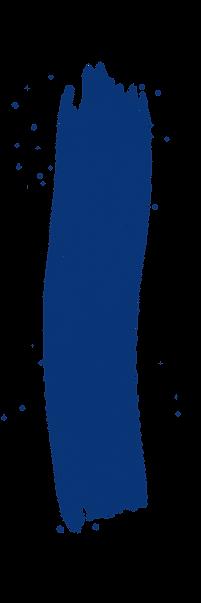 Blue paint stroke