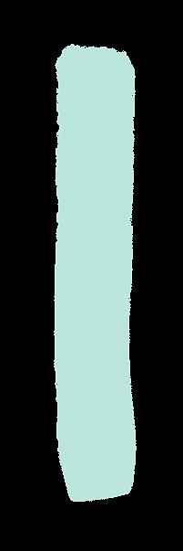 Seafoam-colored paint stroke