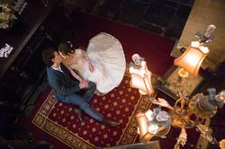bride and groom Lumley Castle