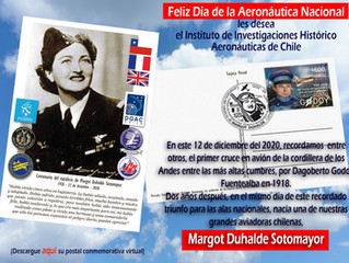 Postal conmemorativa: Centenario del natalicio de Margot Duhalde Sotomayor 12.12.1920 - 12.12.2020