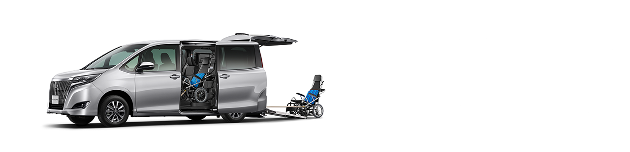 尾板斜台式 (雙輪椅) Wheelchair-adapted Model ( Ramp Type )