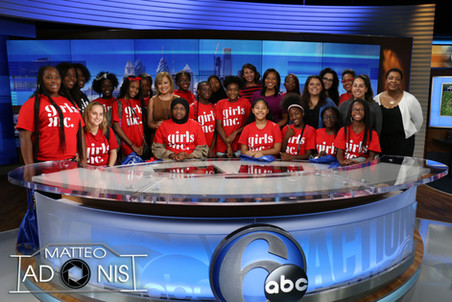 Girls Inc. poses with women of 6abc