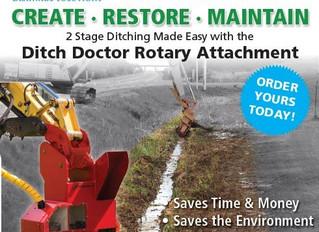 Create, Restore, Maintain- Ditch Doctor Excavator Attachment