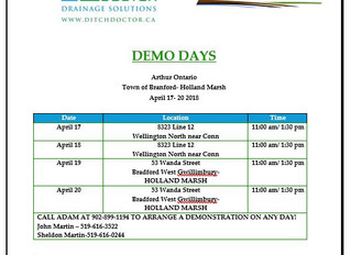 Ditch Doctor Demo Days- Ontario