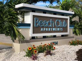Beach Club Apartments Monument Sign