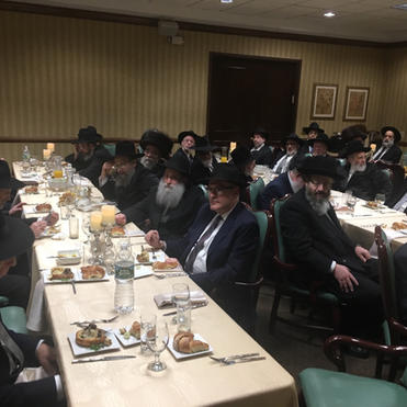 Participants at the Monsey Agra D'Pirka.