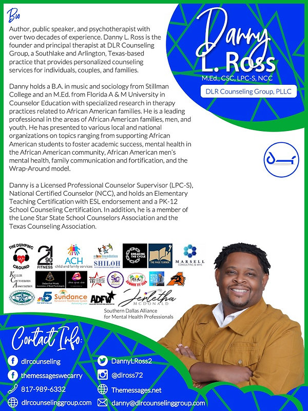 Danny L. Ross One Pager Front
